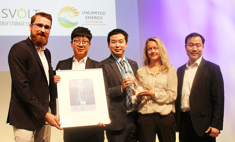 한화큐셀 큐피크 듀오 Intersolar Award 2018 수상