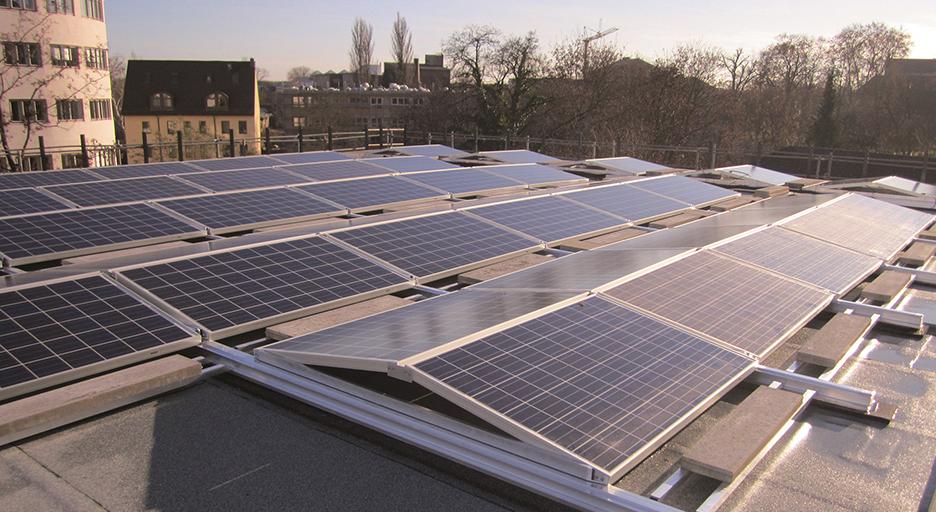 독일 프랑크푸르트에 큐플랫을 활용해 설치된 한화큐셀 태양광 모듈