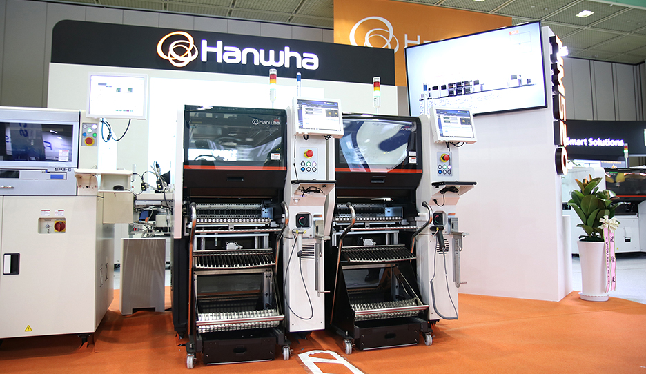 한화정밀기계 신제품 고속 칩마운터 HM520 및 데모라인