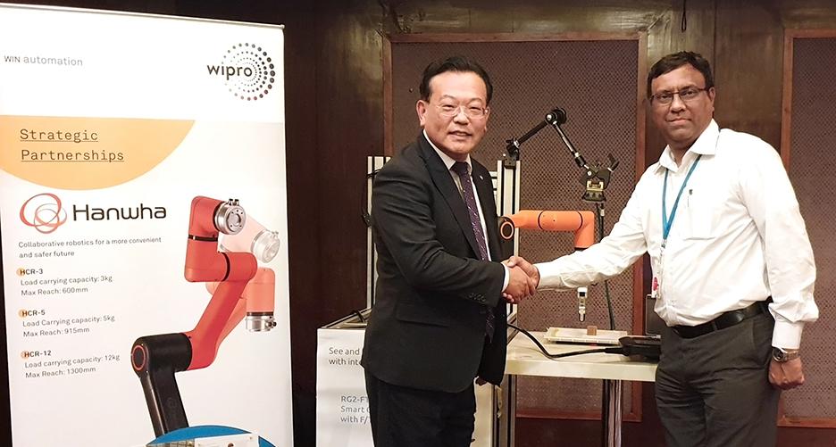 한화정밀기계-인도 위프로(WIPRO) 업무협약 체결 사진