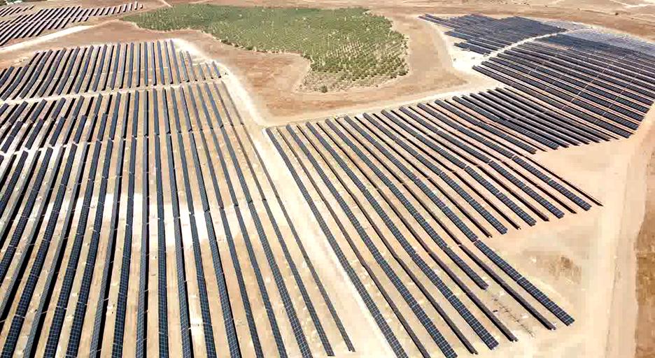 발전소 사진-Birdeye view(한화에너지 스페인 50MW 태양광 매각)