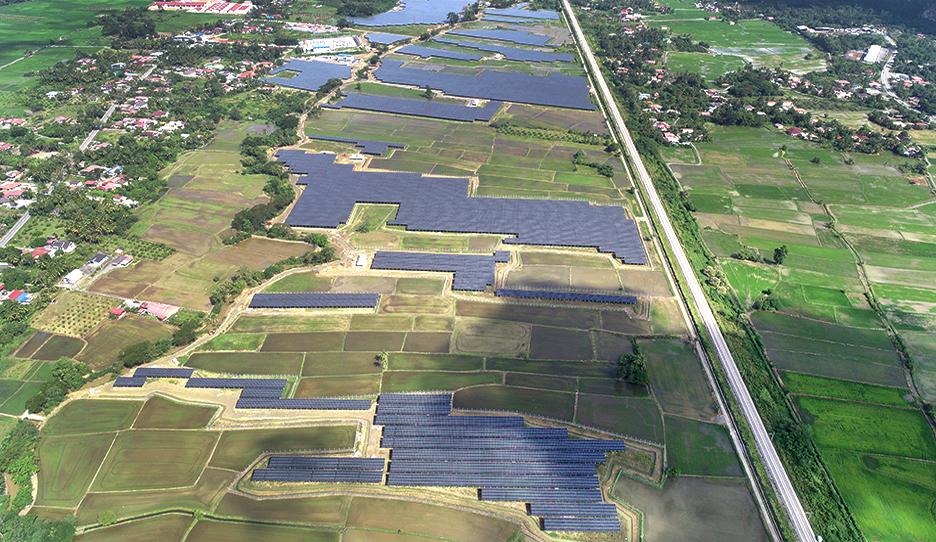 말레이시아 48MW 태양광 발전소 전경