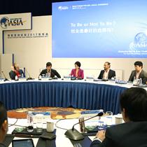 중국 하이난성 충하이시의 보아오포럼(Dongyu Island Hotel)에서 열린 아시아 스타트업 라운드테이블에서 한화그룹 김동원상무(사진 중앙)가 패널로 참석해 아시아 스타트업 생태계의 발전방향에 대해 토론