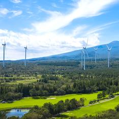 한화건설이 건설한 제주 수망 풍력발전단지