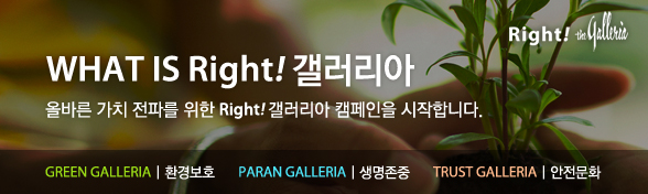 WHAT IS Right! 갤러리아