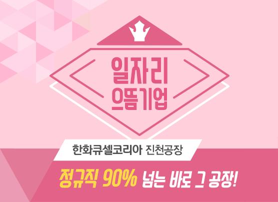일자리 으뜸기업 한화큐셀코리아 진천공장